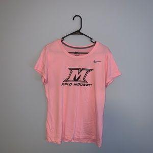 Manhattanville College Field Hockey Pink Shirt